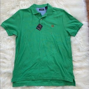 Chaps green collared cotton T-shirt